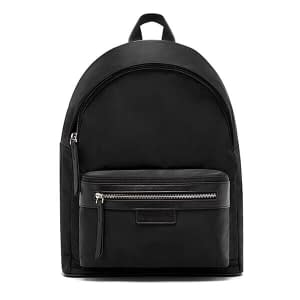 Polyester fabric plain backpack