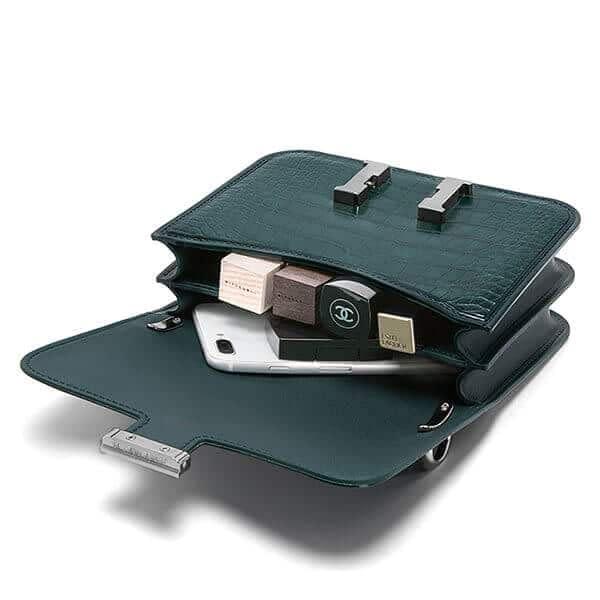 Designer fashion handbag with accordion bag side factory