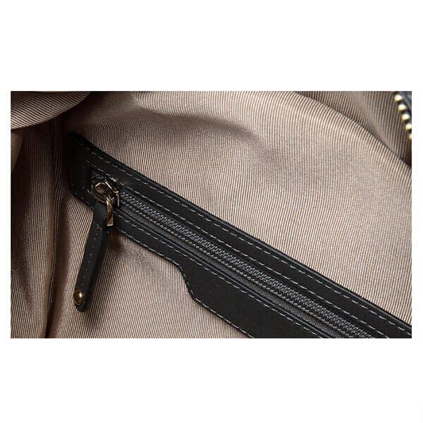 backpack inside zipper pocket details