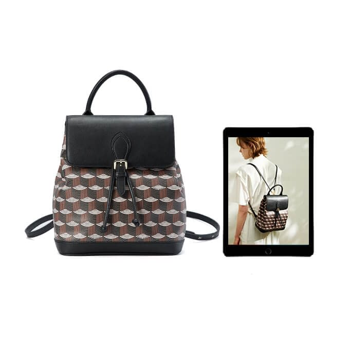 High quality printed pattern backpack 1