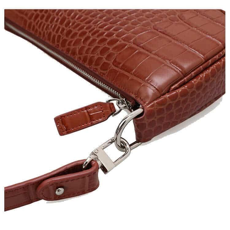 Embossed crocodile pattern leather shoulder bag 3