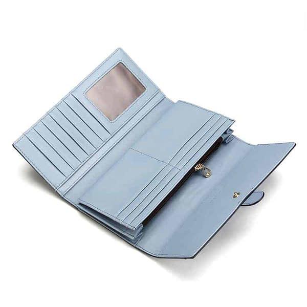 vegan leather PU wallet inside pocket structure