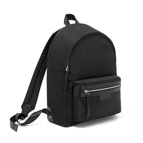 Polyester fabric plain backpack with front big pocket 3