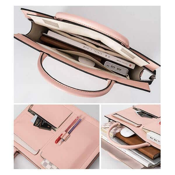 Saffiano leather document bag 2