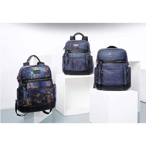 Jean-denim fabric backpack