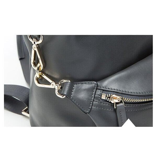 waist bag metallic hook details