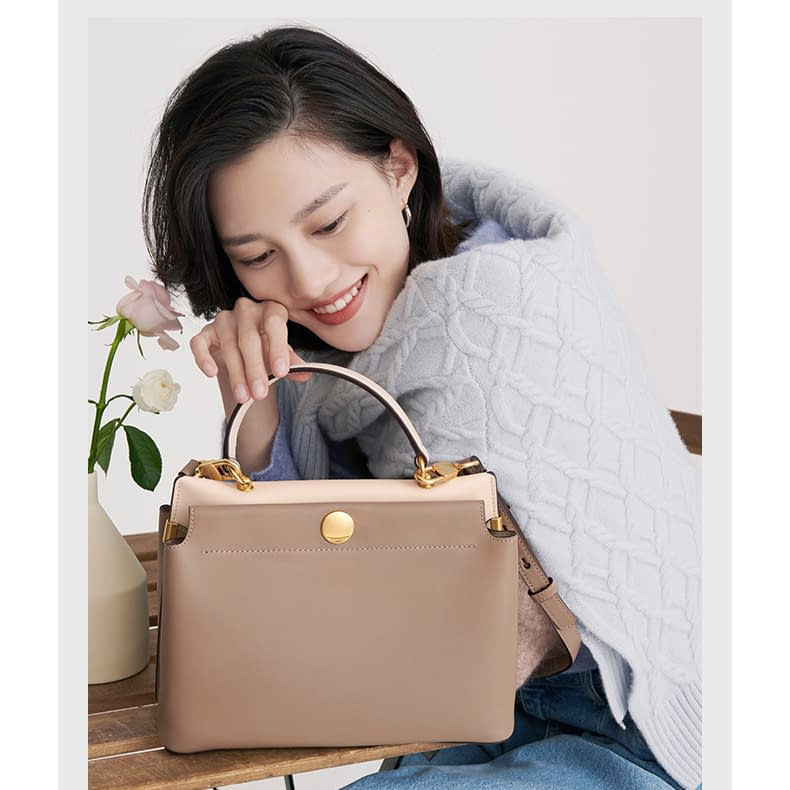 Top quality ustainable recycled leather tote bag 5
