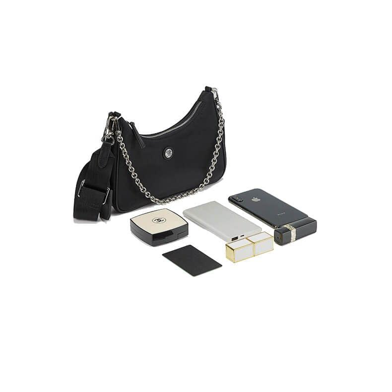 nylon hobo bag black 6